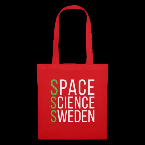 Space Science Sweden - vit - Tygväska