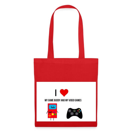 i love my game buddy and my video games - Tote Bag