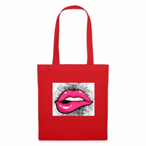 Labios color rosa - Bolsa de tela