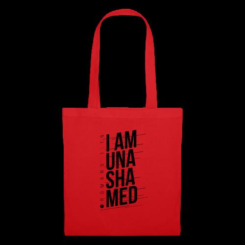I am Unashamed Romans 1:16 Christian T Shirt - Tote Bag