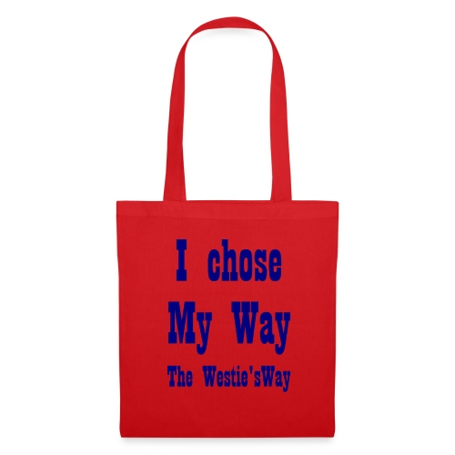 I chose My Way Navy - Tote Bag