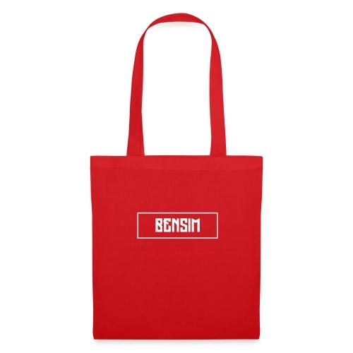 White BenSim Logo - Tote Bag
