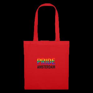 Pride Amsterdam in regenboog kleur en zwart - Tas van stof