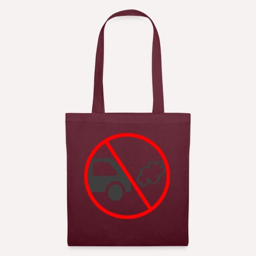No Car Pollution climate caring print design - Tote Bag