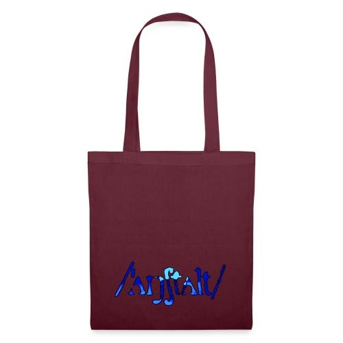/'angstalt/ logo gerastert (blau/schwarz) - Stoffbeutel