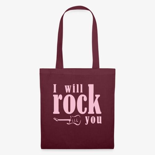 I will rock you design rosa - Borsa di stoffa