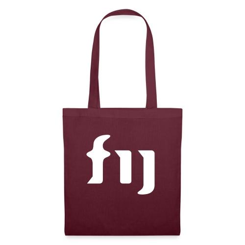 FIJ logo (vit) - Tygväska