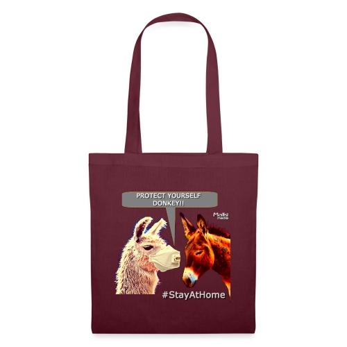 Protect Yourself Donkey - Coronavirus - Bolsa de tela