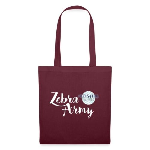 Zebra Army (white) - Tote Bag