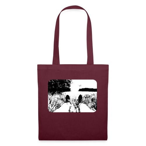 Green Grass in Black and White - Bolsa de tela