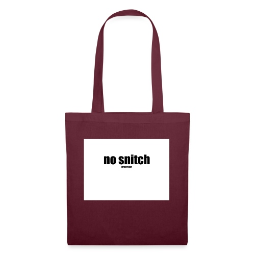 no snitch - Borsa di stoffa