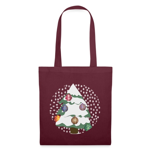 Christmas tree in snowstorm - Tote Bag