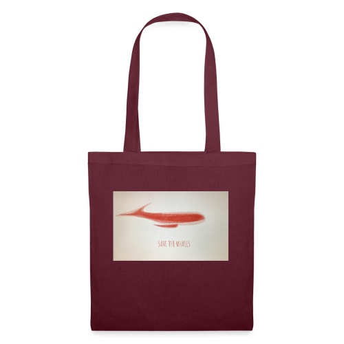 SAVE THE WHALES - Borsa di stoffa