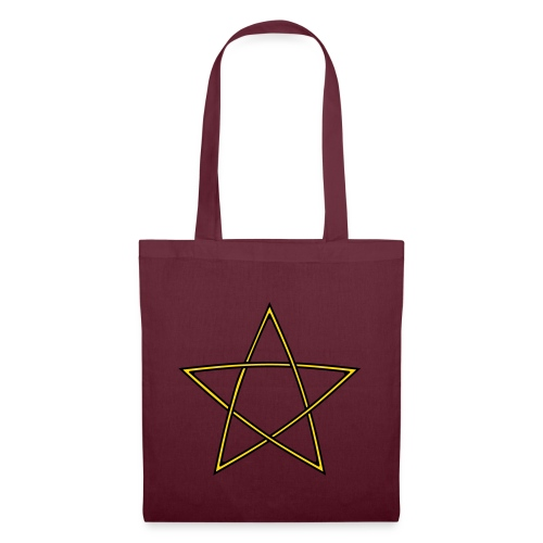 Pentagramm zweifarbig - Stoffbeutel