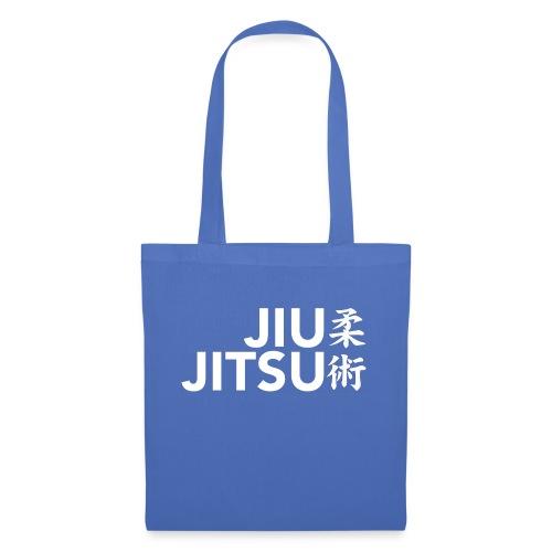 jiujitsu tekst met tekens wit - Tas van stof