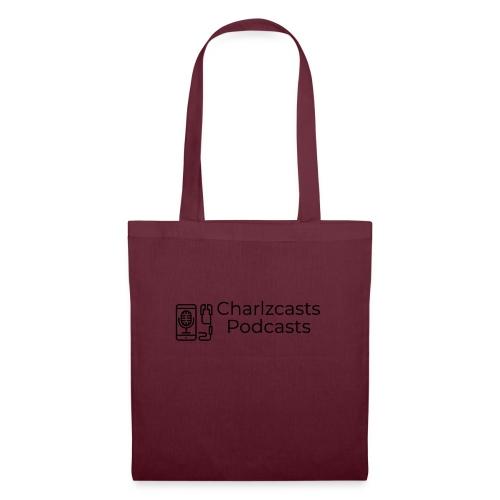 Charlzcast Podcast Logo Black - Tote Bag