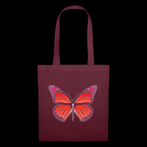 D28 monarch butterfly red lajarindream 4500px - Bolsa de tela