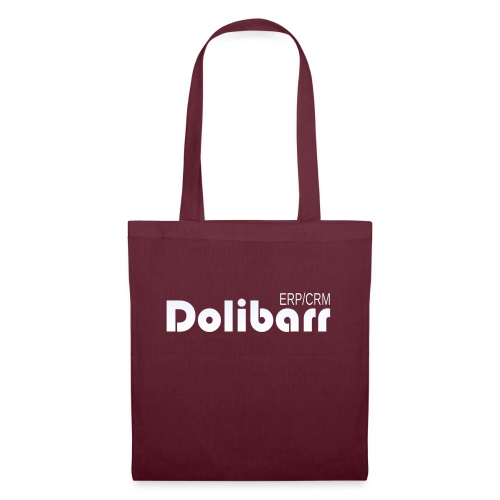 Dolibarr logo blanco - Bolsa de tela