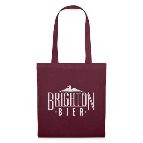 brighton bier logo white - Tote Bag
