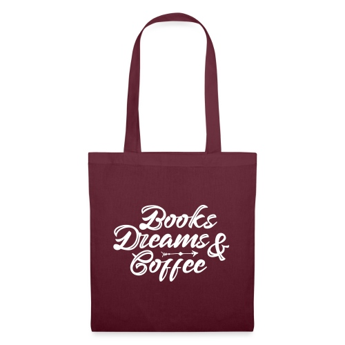 Books dreams and coffee - Borsa di stoffa