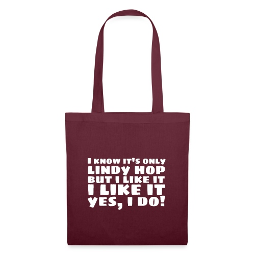 I Know It's Only Lindy Hop White - Tote Bag