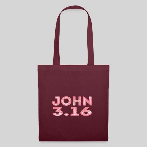 Johannes 3 Vers 16 Bibelversdesign - Stoffbeutel