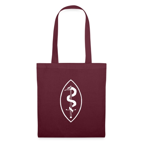 School of Mars Crest (White) - Tote Bag