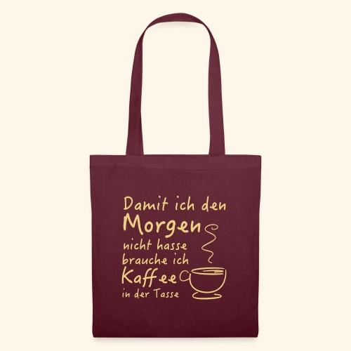 Kaffee in der Tasse - Stoffbeutel