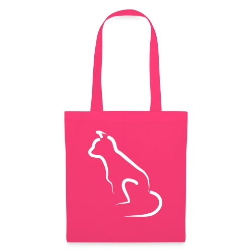 katten silhoutte - Tas van stof
