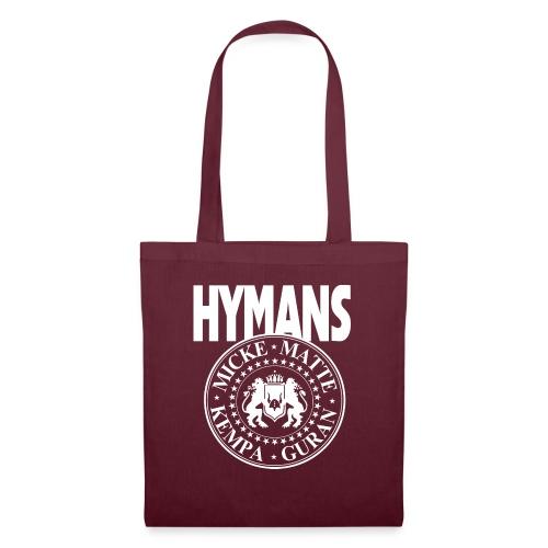 Hymans White classic logo print - Tygväska
