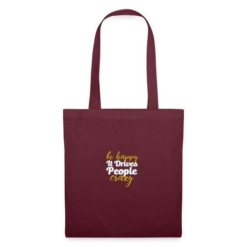 Motivation : Be Happy - Tote Bag