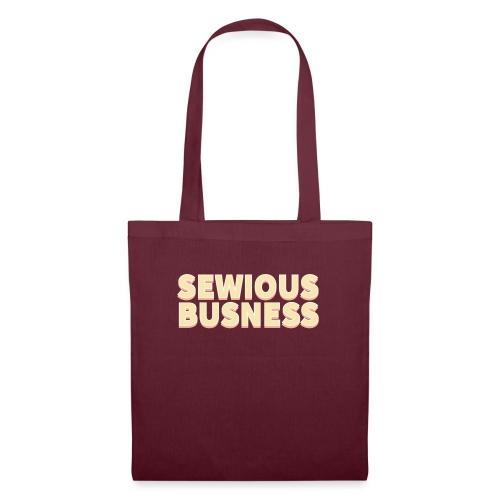 Sewious Busness Rød og Gul Logo - Mulepose