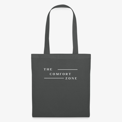 Logo wit The Comfort Zone - Tas van stof