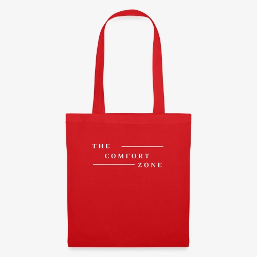 Logo wit The Comfort Zone - Tas van stof