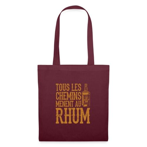 Alcool - Tous les chemins mènent au Rhum - Sac en tissu