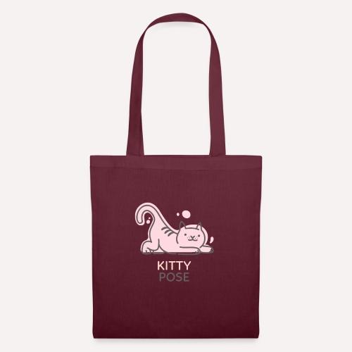 Yoga Pose Kitty Funny Print T-shirt Design - Tote Bag