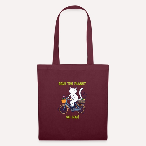 Caring About Climate? Save The Planet Go Bike! - Tote Bag