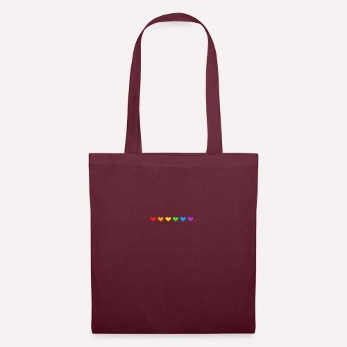 ColourFul Love Hearts Pride Symbol Print Design. - Tote Bag