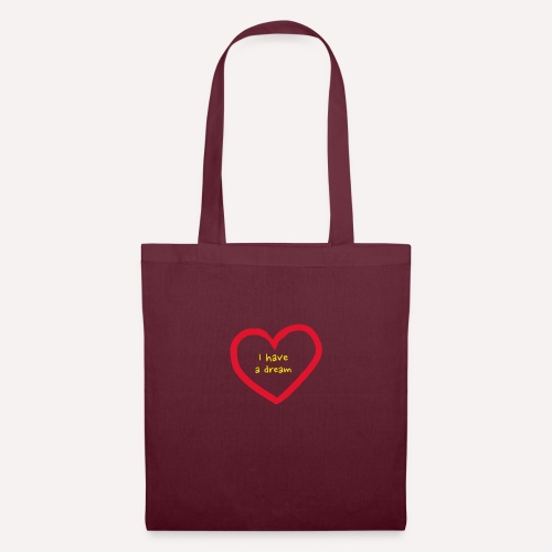 I have A Dream Print On Demand Love Heart Symbol - Tote Bag