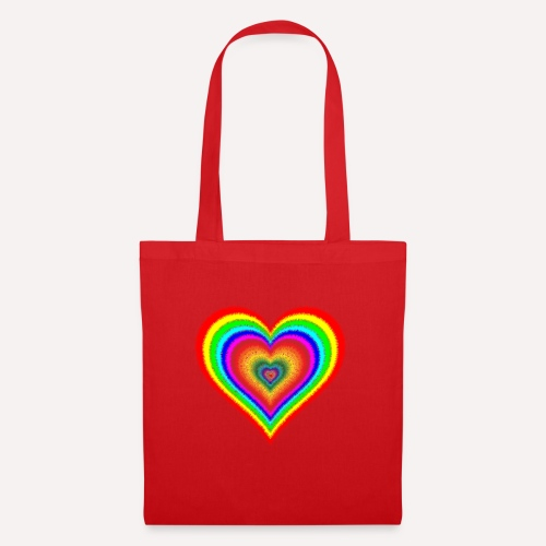 Heart In Hearts Print Design on T-shirt Apparel - Tote Bag