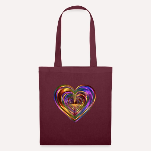 Colorful Love Heart Print T-shirts And Apparel - Tote Bag