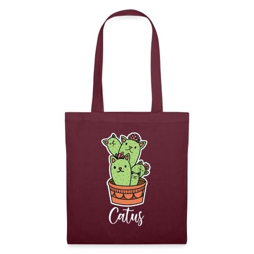 Catus Pflanze oder Tier Katze Kaktus lustig - Stoffbeutel