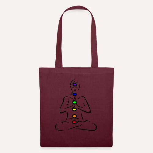 Illustrated Chakras Spirituel Yoga Print Design - Tote Bag