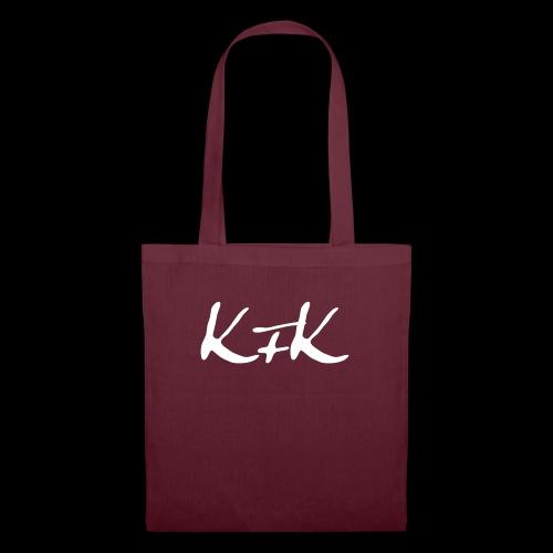 KFK logo blanco - Bolsa de tela