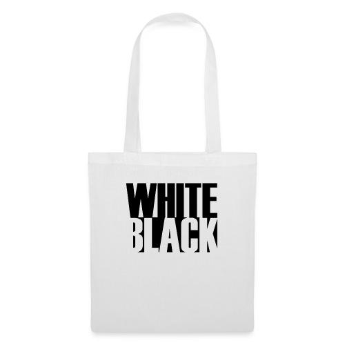 White, Black T-shirt - Tas van stof