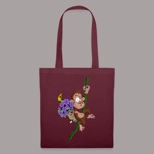 bouquet de fleurs - singe - Sac en tissu