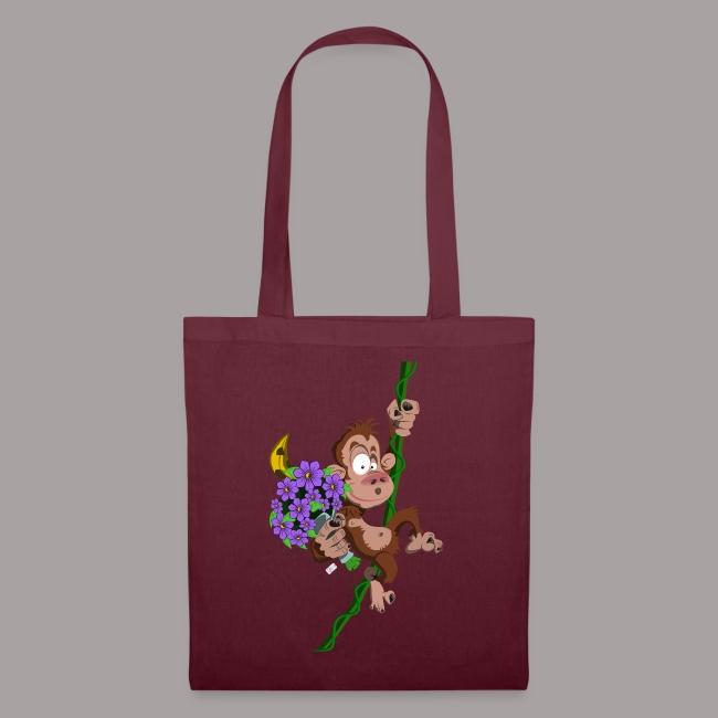 bouquet de fleurs - singe