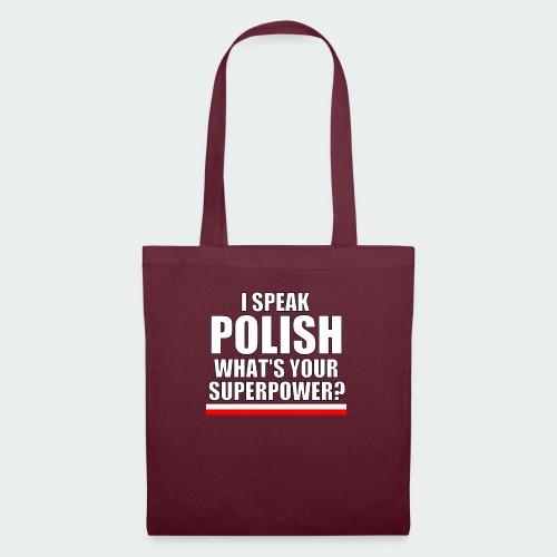 Damska Koszulka Premium I SPEAK POLISH - Torba materiałowa