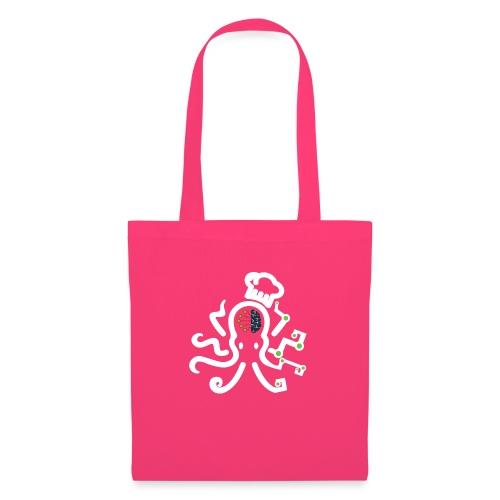 DT3 Octopus - White - Stoffbeutel