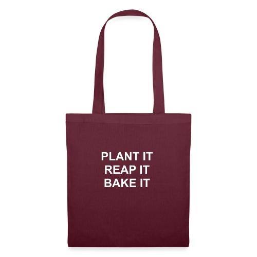 plantitreapitbakeit_white - Stoffbeutel